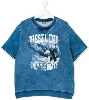 Diesel Teen eagle logo print T-shirt