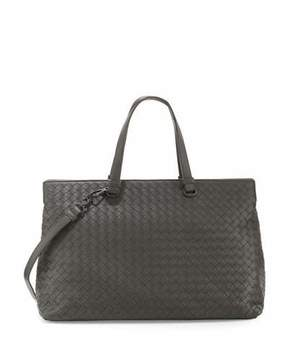 Bottega Veneta Large Double-Compartment Lambskin Tote Bag