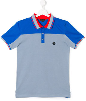 Roberto Cavalli Teen colour block polo shirt