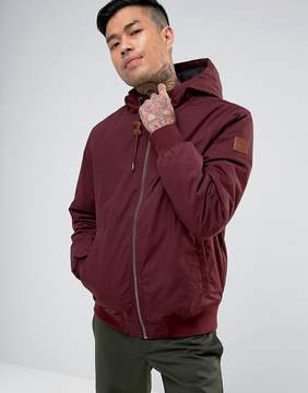 Element Dulcey Hooded Bomber Jacket in Burgundy