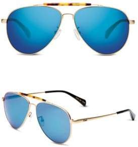Toms 52MM Maverick Mirrored Aviator Sunglasses