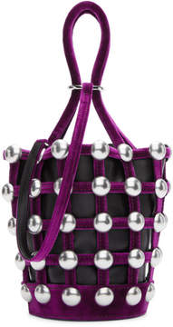Alexander Wang Black and Pink Mini Roxy Cage Bucket Bag