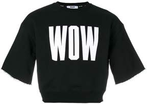 MSGM Wow print cropped sweatshirt