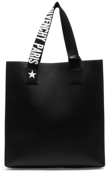 Givenchy Medium Logo Strap Coated Stargate Tote in Black.