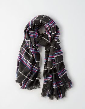 American Eagle Outfitters AE Plaid Boucle Scarf
