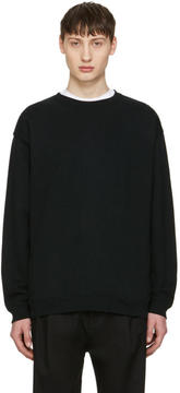 Robert Geller Black French Terry Pullover