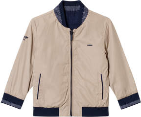 Mayoral Navy and Reversible Beige Bomber Jacket