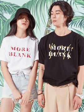 Blank [unisex] MORE T-BK