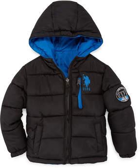 U.S. Polo Assn. Heavyweight Puffer Jacket - Boys-Preschool