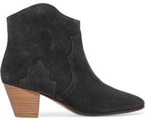 Etoile Isabel Marant Isabel Marant - étoile Dicker Suede Ankle Boots - Black