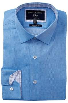 Report Collection Solid Textured Modern Fit Dress Shirt