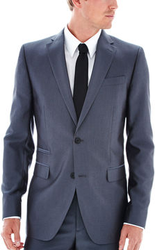 Jf J.Ferrar JF Gray Luster Herringbone Suit Jacket - Slim Fit