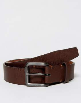 French Connection Leather Belt With Black Buckle