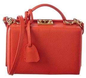 Mark Cross Grace Small Leather Box Bag.