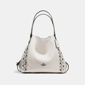 COACH Coach Edie Shoulder Bag 31 With Link Detail - DARK GUNMETAL/CHALK - STYLE
