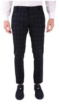 Entre Amis Men's Grey/black Cotton Pants.