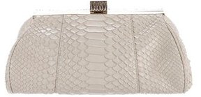Badgley Mischka Embellished Python Clutch