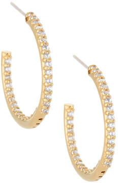FANTASIA 22k Gold-Plated CZ Crystal Hoops