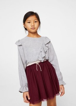 MANGO Metallic tulle skirt