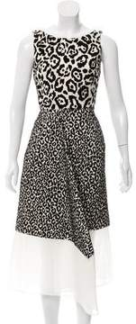 Antonio Berardi Flocked Leopard Dress w/ Tags