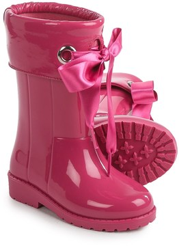 Igor Campera Charol Bow Tie Fuchsia Rain Boots - Waterproof (For Little and Big Girls)