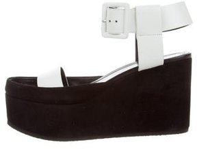 Celine Leather Wedge Sandals w/ Tags