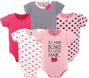Hudson Baby Pink 'So Many Bows so Little Hair' Bodysuit Set - Infant