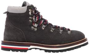 Moncler Blanche Glittered Suede Boots