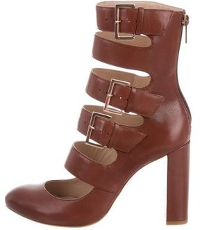 Ruthie Davis Leather Keira Caged Pumps w/ Tags