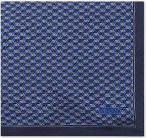 Eton Geometric cube silk pocket square