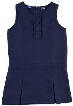 Chaps Girls 4-6x Pleated Ruffled School Uniform Jumper