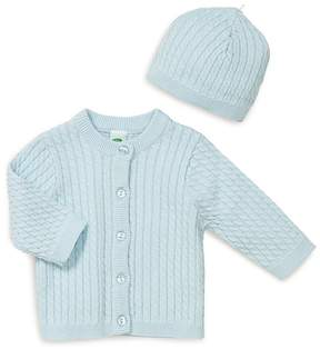 Little Me Boys' Cable-Knit Cardigan & Hat Set - Baby