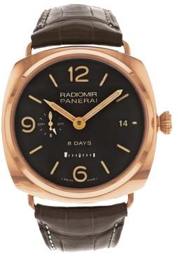 Panerai PAM00395 Radiomir 8 Days GMT Rose Gold 45mm Mens Watch