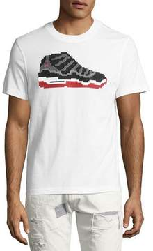 Mostly Heard Rarely Seen Dunk 8-Bit Sneaker T-Shirt, White