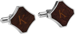 Asstd National Brand Personalized Redwood Stainless Steel Cufflinks