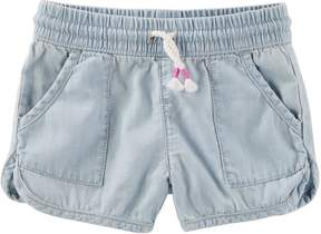 Osh Kosh Oshkosh Bgosh Girls 4-12 Denim Dolphin Shorts