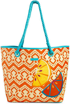 Vera Bradley Beach Tote - NATURAL/LIGHT NATURAL CHEVRON STRAW - STYLE