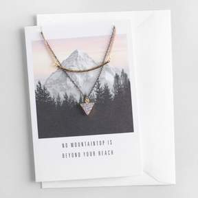 World Market Bar and Druzy Necklaces Gift Set with Greeting Card