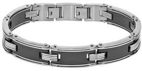 Armani Exchange Jewelry Mens Black Ceramic Stainless Steel Bracelet.