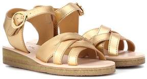 A.P.C. Ada metallic leather sandals