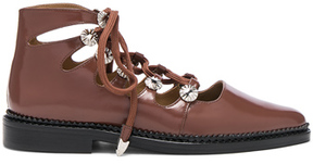 Toga Pulla Lace Up Leather Boots in Brown.