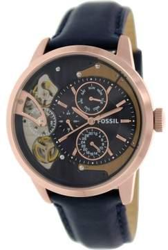 Fossil Men's Townsman ME1138 Blue Leather Quartz Fashion Watch