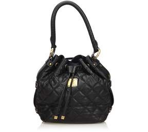 MCM Pre-owned: Quilted Leather Drawstring Bucket Bag.