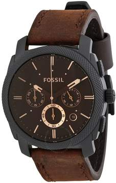 Fossil Machine Chronograph Brown Dial Men's Watch