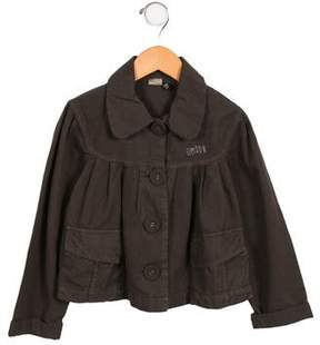 Ikks Girls' Pleated Button-Up Jacket