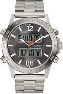 JCPenney CARAVELLE, NEW YORK Caravelle New York Mens Silver Tone Bracelet Watch-43b141