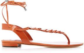 Alexandre Birman Abrielle Leather Lace-Up Sandals