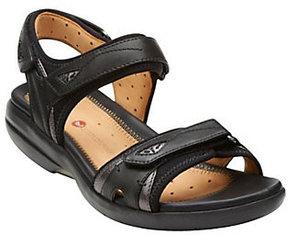 Clarks As Is Unstructed Adj. Straps Sport Sandals - Un. Harbor