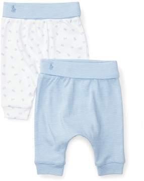 Ralph Lauren | Cotton Legging 2-Pack | 6-12 months | Sconset blue/white