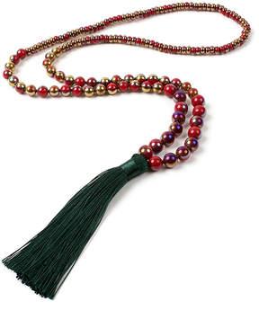 Amrita Singh Green & Red Feza Tassel Necklace